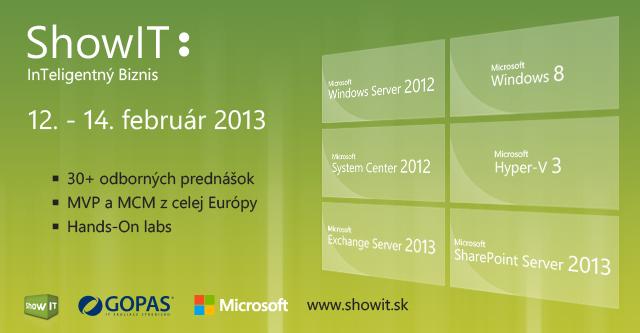 [Súťaž] 2 voľné vstupenky v cene 180 Euro na 3-dňovú technickú konferenciu ShowIT 2013