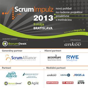 [Súťaž] voľná vstupenka v cene 110 Euro na konferenciu ScrumImpulz 2013