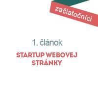 Startup webovej stránky – Teoretická časť I.