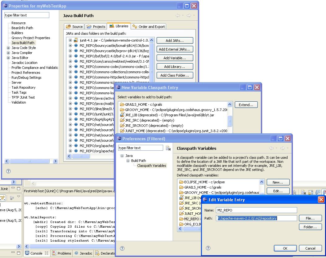 Webtest v groovy pomocou Maven priamo v Eclipse