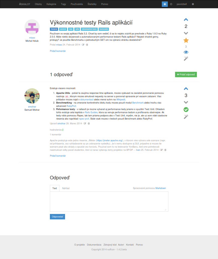 TP CUP 2014: Askalot – komunitný systém otázok a odpovedí
