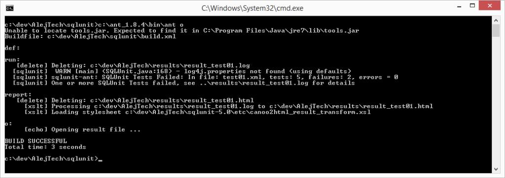 SQLUnit - nástroj pre automatizované testovanie storovaných procedúr