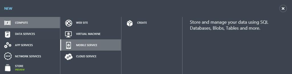 Azure: Vytvorenie mobilnej služby (JavaScript backend)