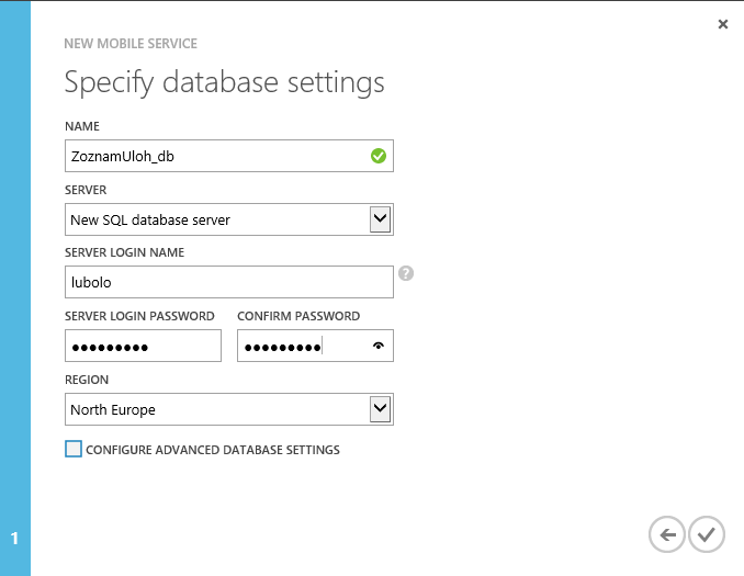 Databazove nastavenia