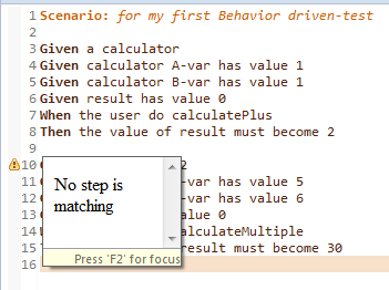 Behavior drive-test