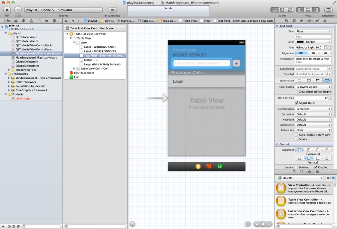 Azure: iOS  - vytvorenie aplikácie využívajúcej mobilnú službu