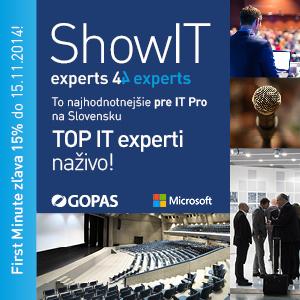 Súťaž: ShowIT 2015 - to NAJhodnotnejšie pre IT Pro