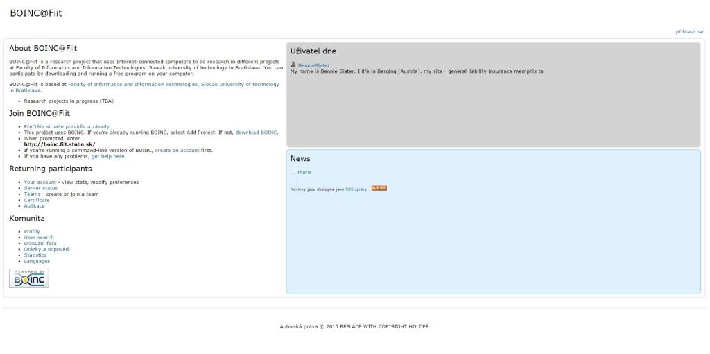 Pár slov oplatforme BOINC afakultnom projekte