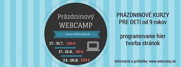 Webcamp - letné kurzy pre deti