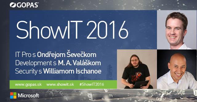 ShowIT 2016 banner - TOP speakri