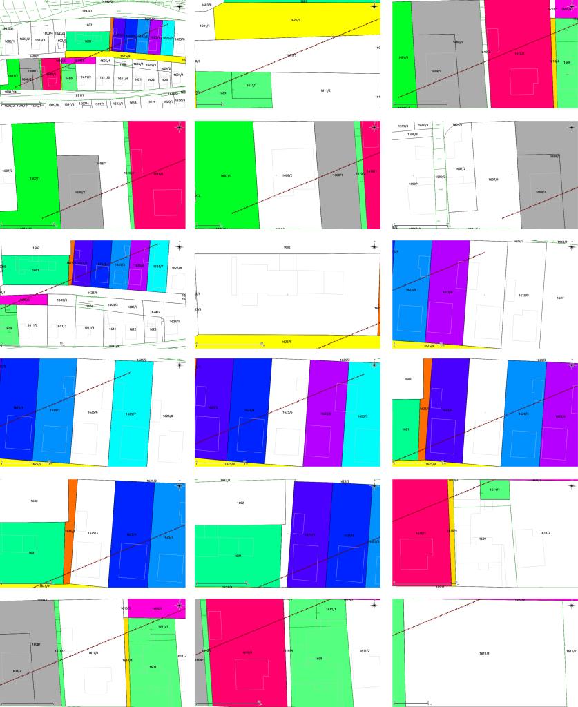 Pohľad na každú parcelu ako výsledok zásuvného modulu Save Views.