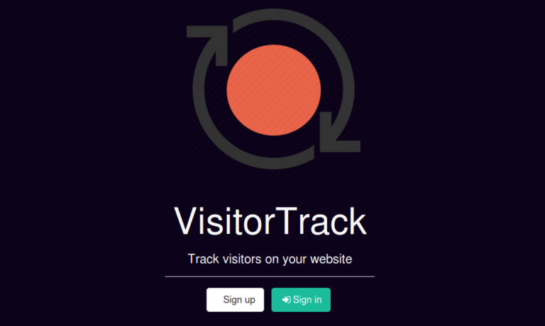 Aplikácia VisitorTrack