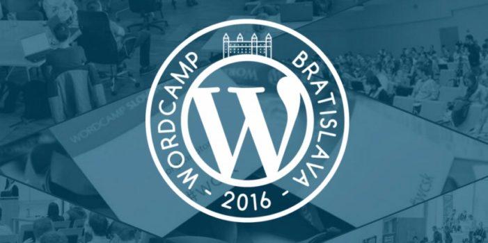 [súťaž] WordCamp Bratislava 2016
