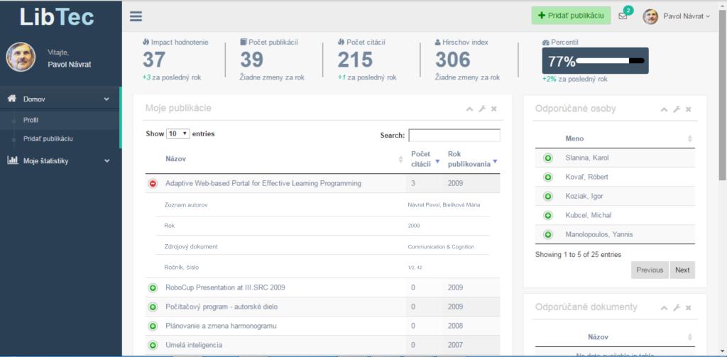 LibTec: digitálny repozitár publikovaných výsledkov