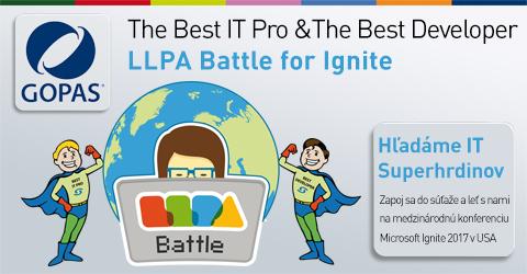GOPAS hľadá IT Superhrdinov – súťaž LLPA Battle for Ignite