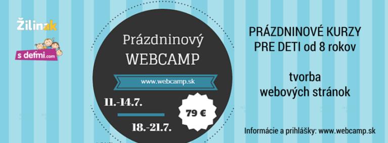 Prázdninový Webcamp pre deti v Žiline