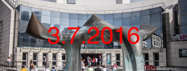 TEDxBratislava 2016 – Posledný nech zažne