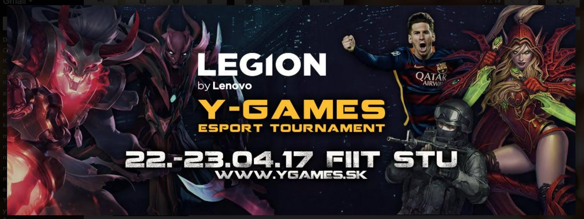 Herný turnaj LENOVO LEGION Y-Games 2017 už spoznal svojich víťazov 1