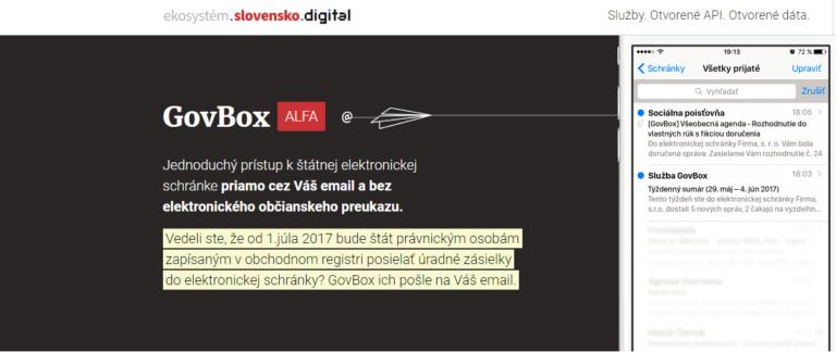 K elektronickej schránke nepotrebujete elektronický občiansky preukaz. Slovensko.Digital spustilo službu GovBox