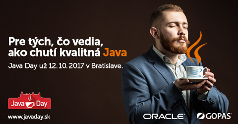 Konferencia pre tých, ktorí vedia ako chutí kvalitná Java 1