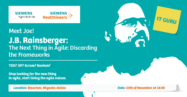 "IT Guru Joe B. Rainsberger v Bratislave na tému ""The Next Thing in Agile: Discarding the Frameworks"""