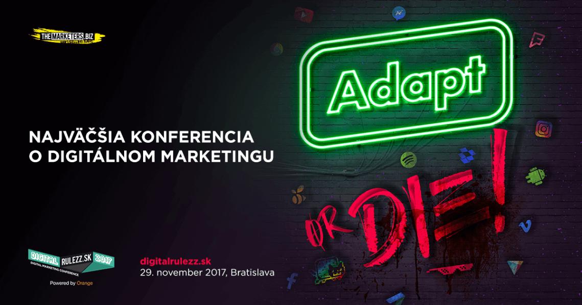 Poď s nami na DIGITAL RULEZZ 2017, najväčšiu digitálnu konferenciu o marketingu [SÚŤAŽ] 1
