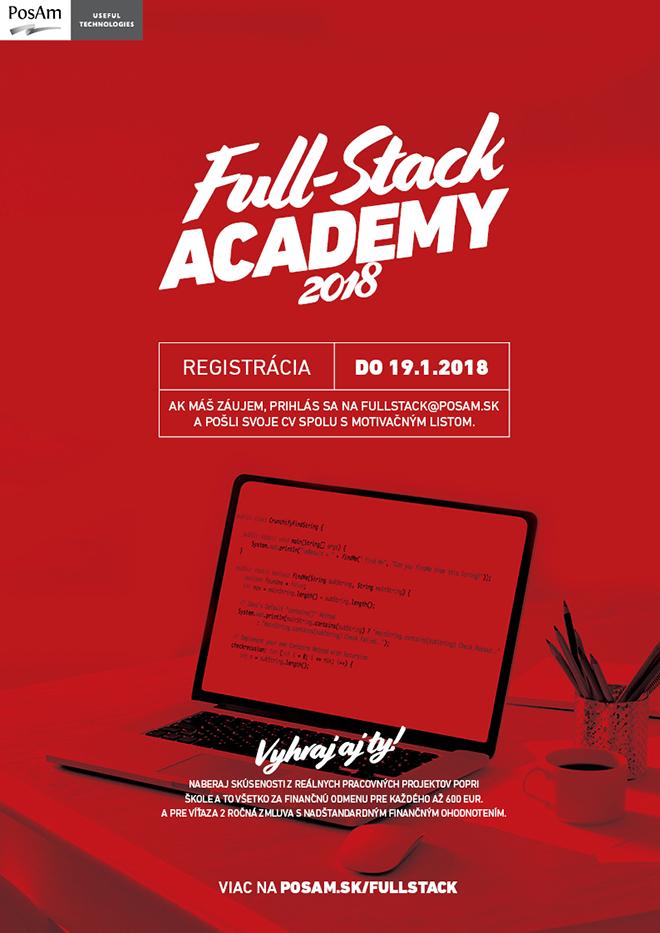 Nábor záujemcov do Full-Stack Academy 2018 spustený 5