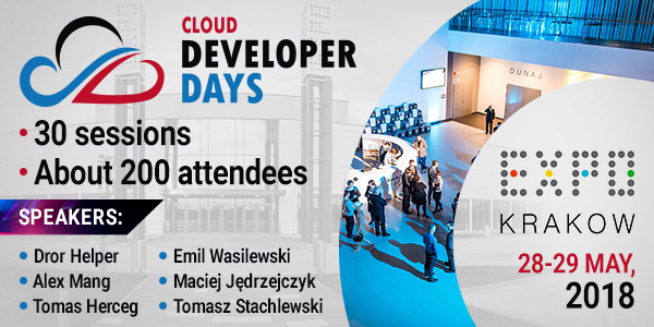 Blížia sa CLOUD DEVELOPERDAYS v Krakowe 1
