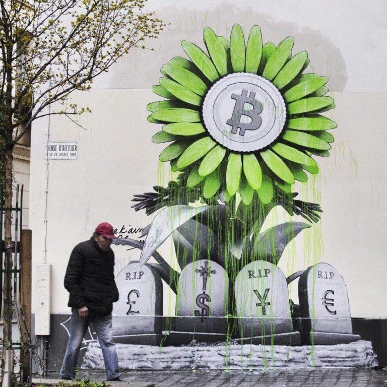 R.I.P Banking System - grafitti v Paríži od umelca Ludo