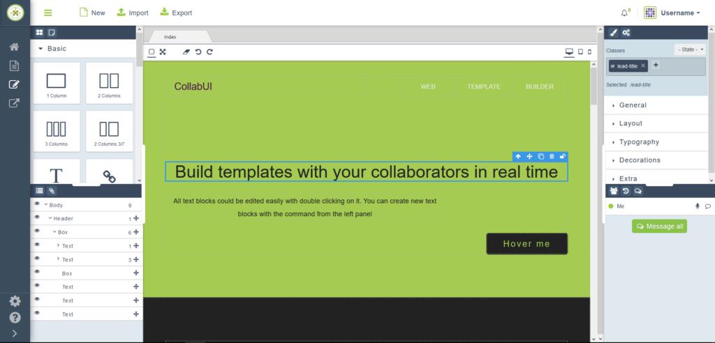Collab-UI: Kolaboratívne prototypovanie používateľských rozhraní 5
