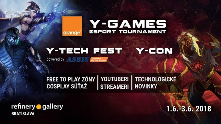 Orange Y-Games 2018 prichádza vo veľkom štýle už 1. – 3. júna
