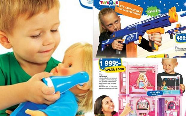 Švédsky leták, ktorý propagoval hračky ako rodovo neutrálne
