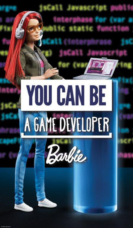 Barbie – vývojárka hier