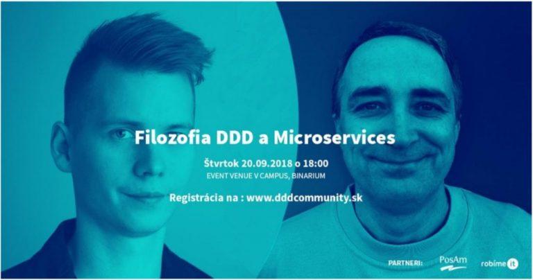 Pozvánka na meetup Filozofia DDD a Microservices