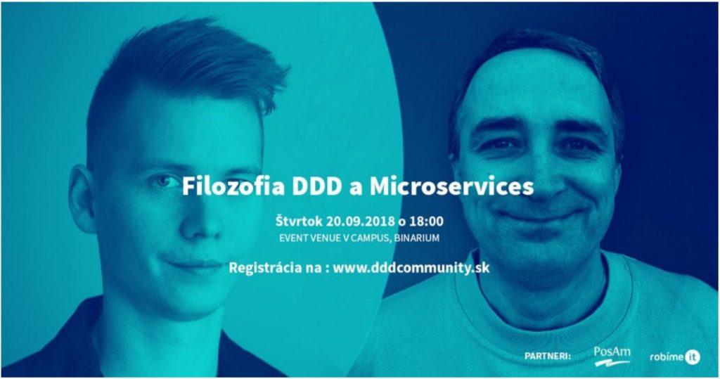 Pozvánka na meetup Filozofia DDD a Microservices 1
