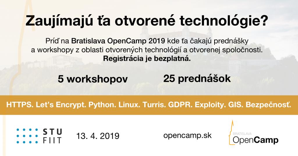 Už onecelý mesiac sa vBratislave uskutoční 2. ročník konferencie Bratislava OpenCamp 1
