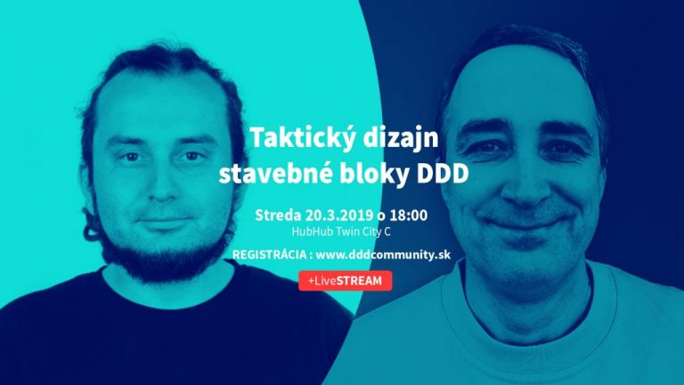 Príď na stretnutie DDD Community – Taktický dizajn – stavebné bloky DDD