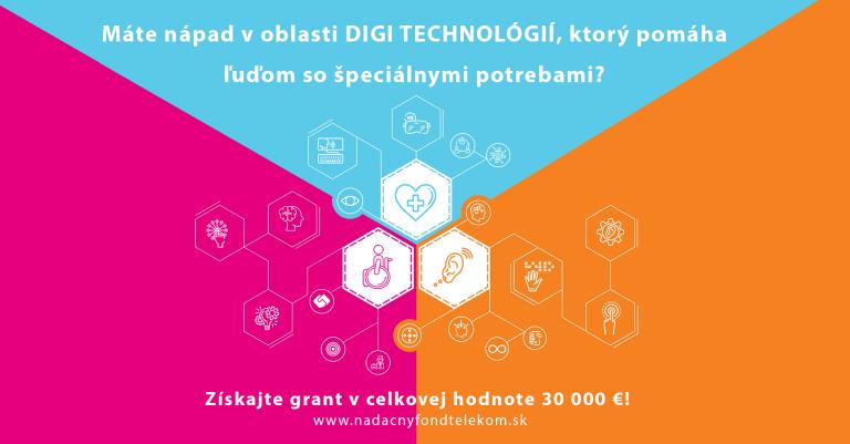 Máš nápad voblasti digi technológií, ktorý pomôže ľudom so špeciálnymi potrebami?