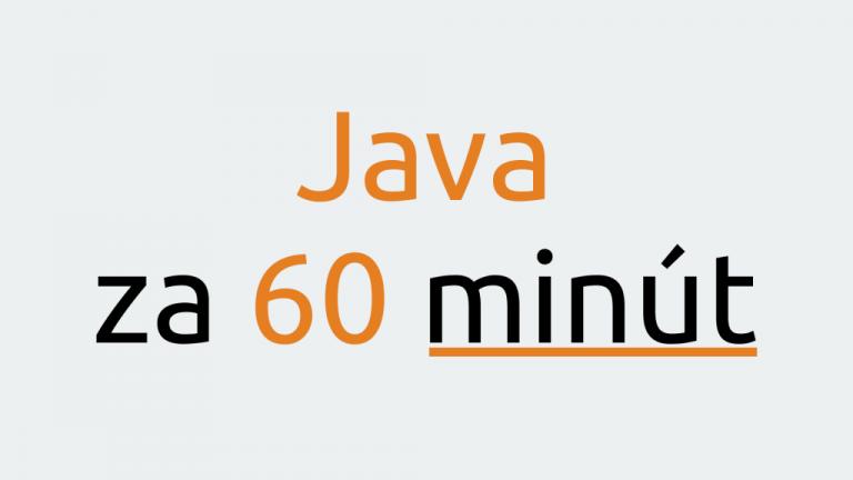 Java za 60 minút