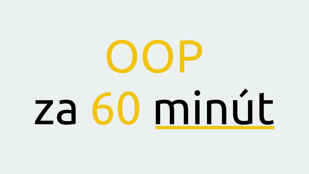 OOP za 60 minút 1