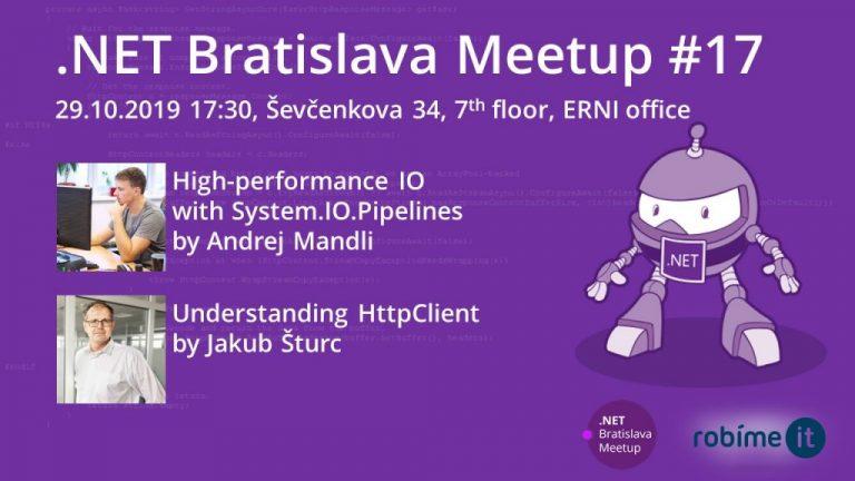 Pozývame Ťa na .NET Bratislava Meetup #17