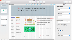 Vložené prvky ako Button, Gallery, Video, Audio, Checkbox