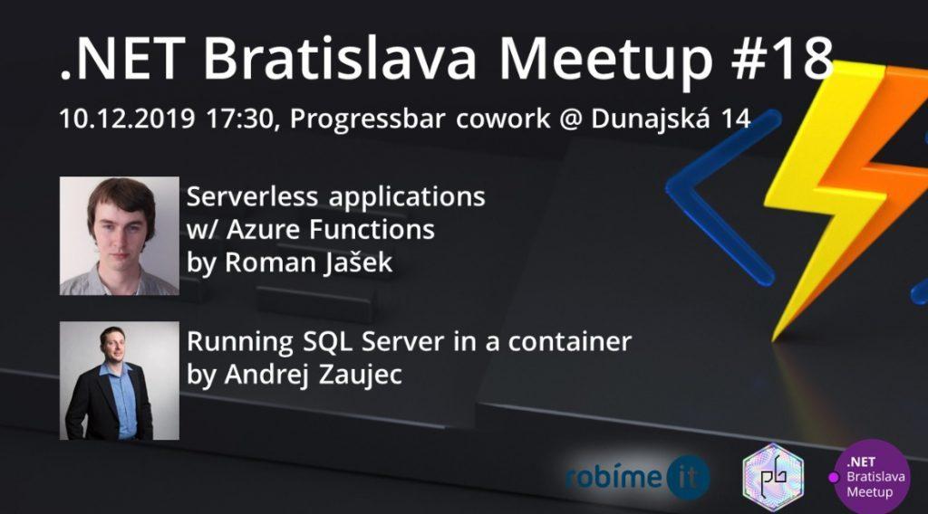 .NET Bratislava Meetup #18 1