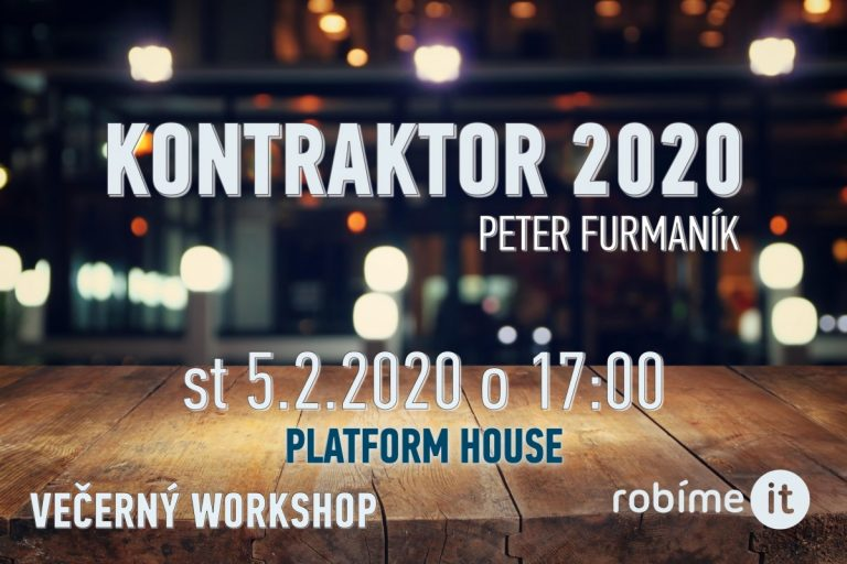 IT kontraktor 2020 – začínam, novinky, zmeny