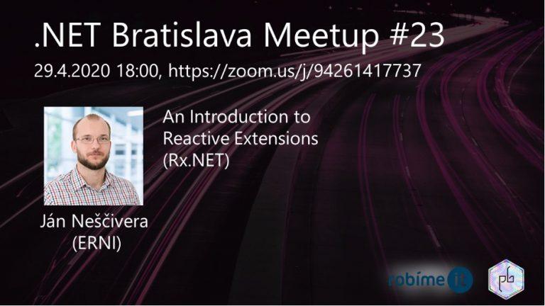 .NET Bratislava Meetup #23