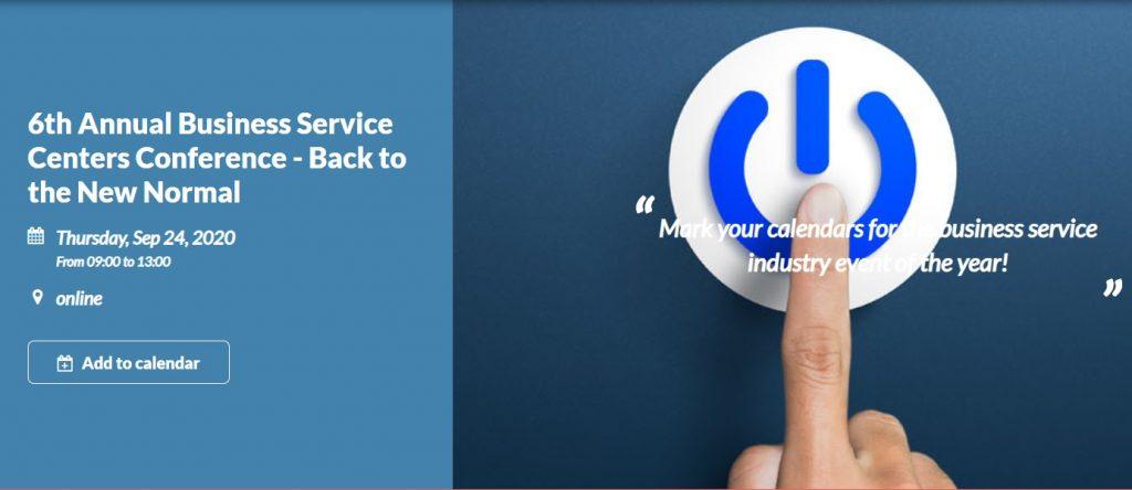 Business Service Centers Conference o návrate do normálu. 1