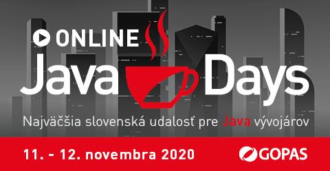 Ako chutí tá pravá Java? Odpoveď nájdete na JavaDays 2020 ONLINE