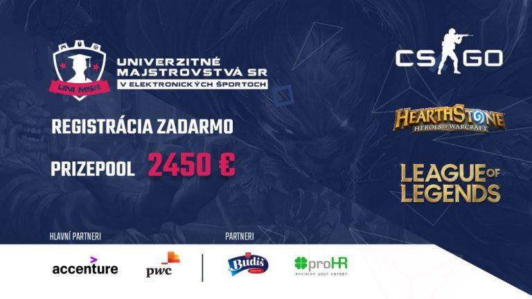 Študenti slovenských vysokých škôl môžu zabojovať o titul univerzitného ešportového majstra 2020!