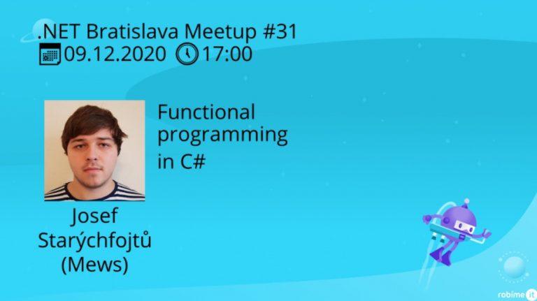 .NET Bratislava Meetup #31