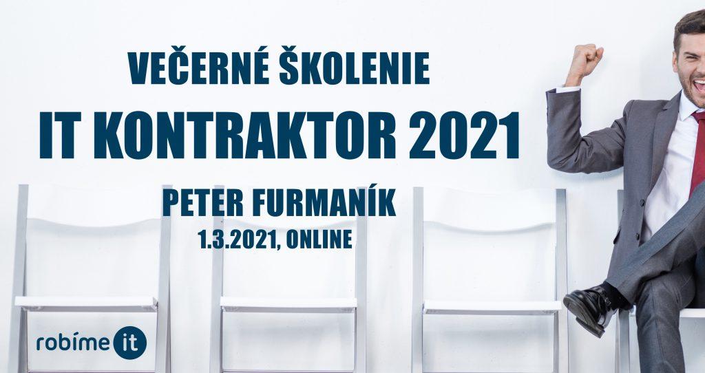 IT kontraktor 2021 - živnosť, alebo sročka? 1